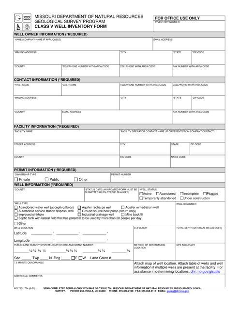 Form MO780-1774 Printable Pdf