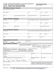 "Form MO780-1774 ""Class V Well Inventory Form"" - Missouri"