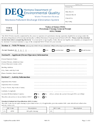 "Form NOI-79 ""Notice of Intent (Noi) Petroleum Cleanup General Permit Mtg790000"" - Montana"