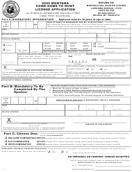 """Montana Come Home to Hunt License Application"" - Montana, 2020"
