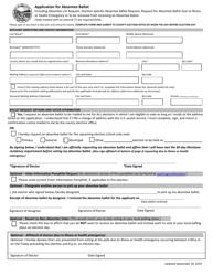 """Application for Absentee Ballot"" - Montana"