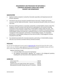 "Form DOI-4-801C ""Application for Insurance Consultant's License (Corporation or Partnership)"" - Nebraska"