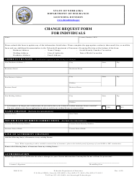 "Form DOI9110 ""Change Request Form for Individuals"" - Nebraska"