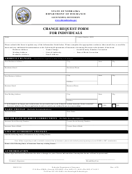 "Form DOI9110 ""Change Request Form for Individuals"" - Nebraska"