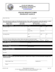 "Form DOI-AGCY_CHG ""Change Request Form - Insurance Agency"" - Nebraska"