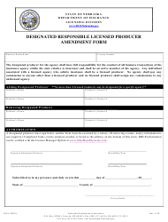 "Form DOI-9002A ""Designated Responsible Licensed Producer Amendment Form"" - Nebraska"