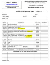 """Form DSAD60 """"Town/City Requisition"""" - New Hampshire"""