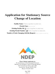 """""""Application for Stationary Source Change of Location"""" - Nevada"""