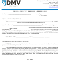 "Form OBL277 ""Vehicle Industry Business License Bond"" - Nevada"