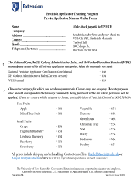 """Private Applicator Manual Order Form"" - New Hampshire"