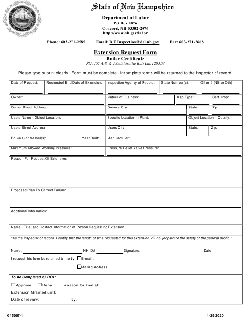 Form G45007-1  Printable Pdf