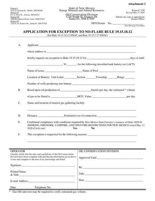 Form C-129 Attachment 2  Printable Pdf