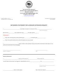 """Notarized Statement for Licensure Extension Request"" - New Mexico"