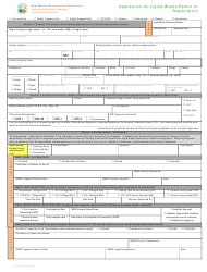 "Form LW401E ""Application for Liquid Waste Permit or Registration"" - New Mexico"