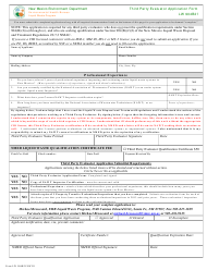 "Form LW904B2F ""Third Party Evaluator Application Form"" - New Mexico"
