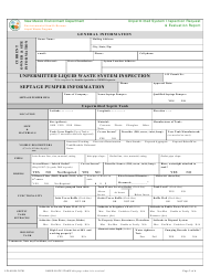 "Form LW401JK ""Unpermitted System Inspection Request & Evaluation Report"" - New Mexico, Page 2"