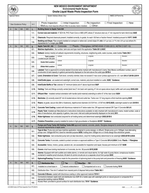 Form LW203B Printable Pdf