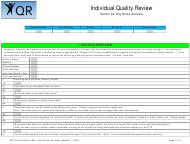 """Section 2A """"Individual Quality Review: Day Nurse Interview"""" - New Mexico"""