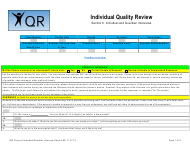 """Section 6 """"Individual Quality Review: Individual and Guardian Interviews"""" - New Mexico"""