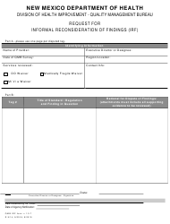 """""""Request for Informal Reconsideration of Findings (Irf)"""" - New Mexico"""