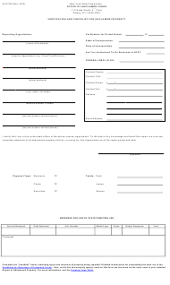 "Form AC2709 ""Verification and Checklist for Unclaimed Property"" - New York"