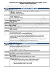 """Elementary and Secondary School Emergency Relief Fund (Esser) Application - Program Administrator Checklist"" - North Carolina, 2020"