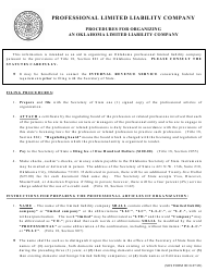 "SOS Form 0011 ""Professional Articles of Organization (Oklahoma Limited Liability Company)"" - Oklahoma"