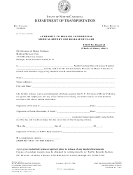 """Form DL-22 """"Authority to Release Confidential Medical Report and Release of Claim"""" - North Carolina"""
