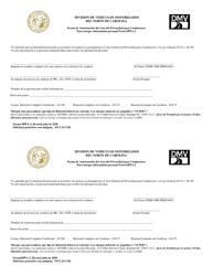 """Formulario DL-DPPA-2 """"Forma De Autorizacion Del Acto Del Privacidad Para Conductores Para Otorgar Information Personal"""" - North Carolina (Spanish)"""