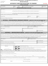 "Form MVR-4F ""Affidavit and Notification to Owner"" - North Carolina"