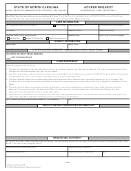 """Form AOC-A-262 """"Access Request (Guardian Ad Litem Office Only)"""" - North Carolina"""