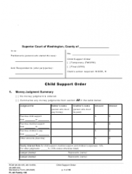 "Form FL All Family130 ""Child Support Order"" - Washington"