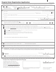 "Form VA-NVRA-1 ""Virginia Voter Registration Application"" - Virginia"