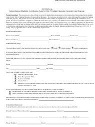 "Form ED506 ""Indian Student Eligibility Certification Form for Title VI Indian Education Formula Grant Program"""