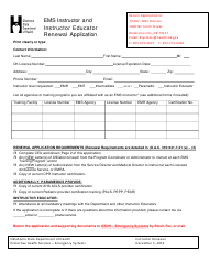 """EMS Instructor and Instructor Educator Renewal Application"" - Oklahoma"