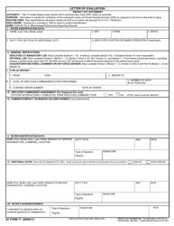 """AF Form 77 """"Letter of Evaluation"""""""