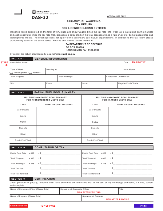 Form DAS-32 Printable Pdf