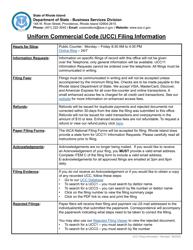 "Form UCC11 ""Information Request"" - Rhode Island"