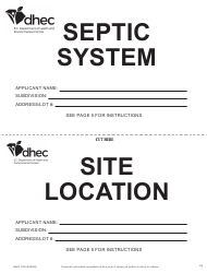 """DHEC Form 1740 """"Onsite Wastewater System Application"""" - South Carolina, Page 11"""
