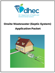"""DHEC Form 1740 """"Onsite Wastewater System Application"""" - South Carolina"""