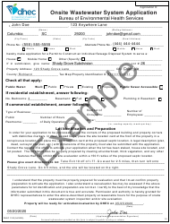 """DHEC Form 1740 """"Onsite Wastewater System Application"""" - South Carolina, Page 5"""