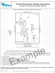 """DHEC Form 1740 """"Onsite Wastewater System Application"""" - South Carolina, Page 6"""