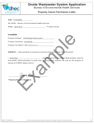 """DHEC Form 1740 """"Onsite Wastewater System Application"""" - South Carolina, Page 7"""