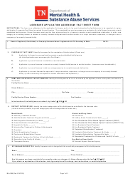 "Form MH-4386 ""Licensure Application Addendum: Fact Sheet Form"" - Tennessee"