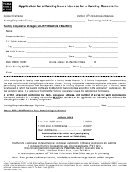 """Form PWD328 """"Application for a Hunting Lease License for a Hunting Cooperative"""" - Texas"""