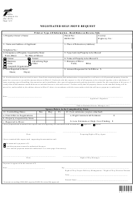 """Form ROW-R-119 """"Negotiated Self-move Request"""" - Texas"""