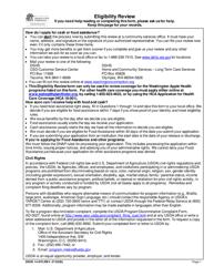 """DSHS Form 14-078 """"Eligibility Review"""" - Washington"""