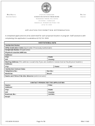 """Form HE-0038 """"Application for Exemption Determination"""" - Tennessee"""