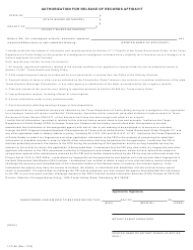 "Form LTC-85 ""Authorization for Release of Records Affidavit"" - Texas"