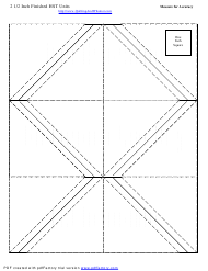 """2 1/2 Inch Finished Half Square Triangle Units Template"""